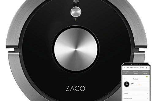 ZACO A9s Saugroboter mit Wischfunktion App und Alexa Steuerung 2 500x330 - ZACO A9s Saugroboter mit Wischfunktion, App und Alexa Steuerung, 2 Std Laufzeit, für Tierhaare, 3in1 Hartböden wischen, Teppiche staubsaugen und bürsten, Roboterstaubsauger mit Ladestation, schwarz