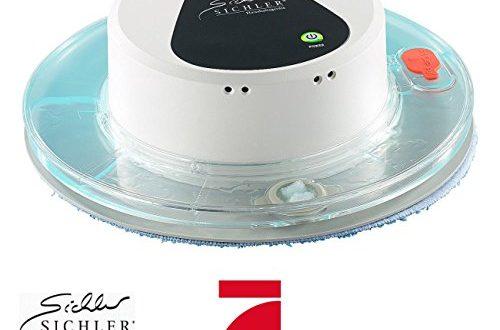 Sichler Haushaltsgeraete Bodenwisch Roboter Boden Wisch Roboter PCR 1130 fuer Nass und Trockenreinigung 500x330 - Sichler Haushaltsgeräte Bodenwisch Roboter: Boden-Wisch-Roboter PCR-1130 für Nass- und Trockenreinigung (Wischroboter mit Wassertank)
